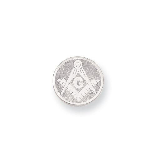 Rhodium-plated with Chain Masonic Tie Tack