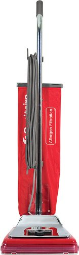 "Sanitaire Sc888K Commercial Cri Approved Upright Vacuum Cleaner With Disposal Bag And 7 Amp Motor, 12"" Cleaning Path"