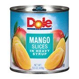 Dole Mango Slices in Heavy Syrup 15.5oz Can (Pack of 6) (Canned Mangoes compare prices)