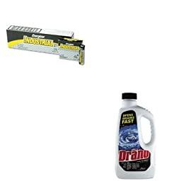 KITDRACB001169EAEVEEN91 - Value Kit - Drano Liquid Drain Cleaner (DRACB001169EA) and Energizer Industrial Alkaline Batteries (EVEEN91)