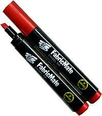 FabricMate Chisel Tip Fabric Marker, Red