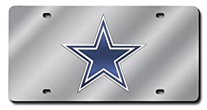 NFL Dallas Cowboys License Plate Cover (Silver) by Rico