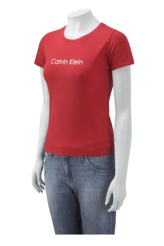 Calvin Klein Ladies Short Sleeve Chest Logo T-Shirt