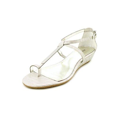 Silver Wedge Flip Flops
