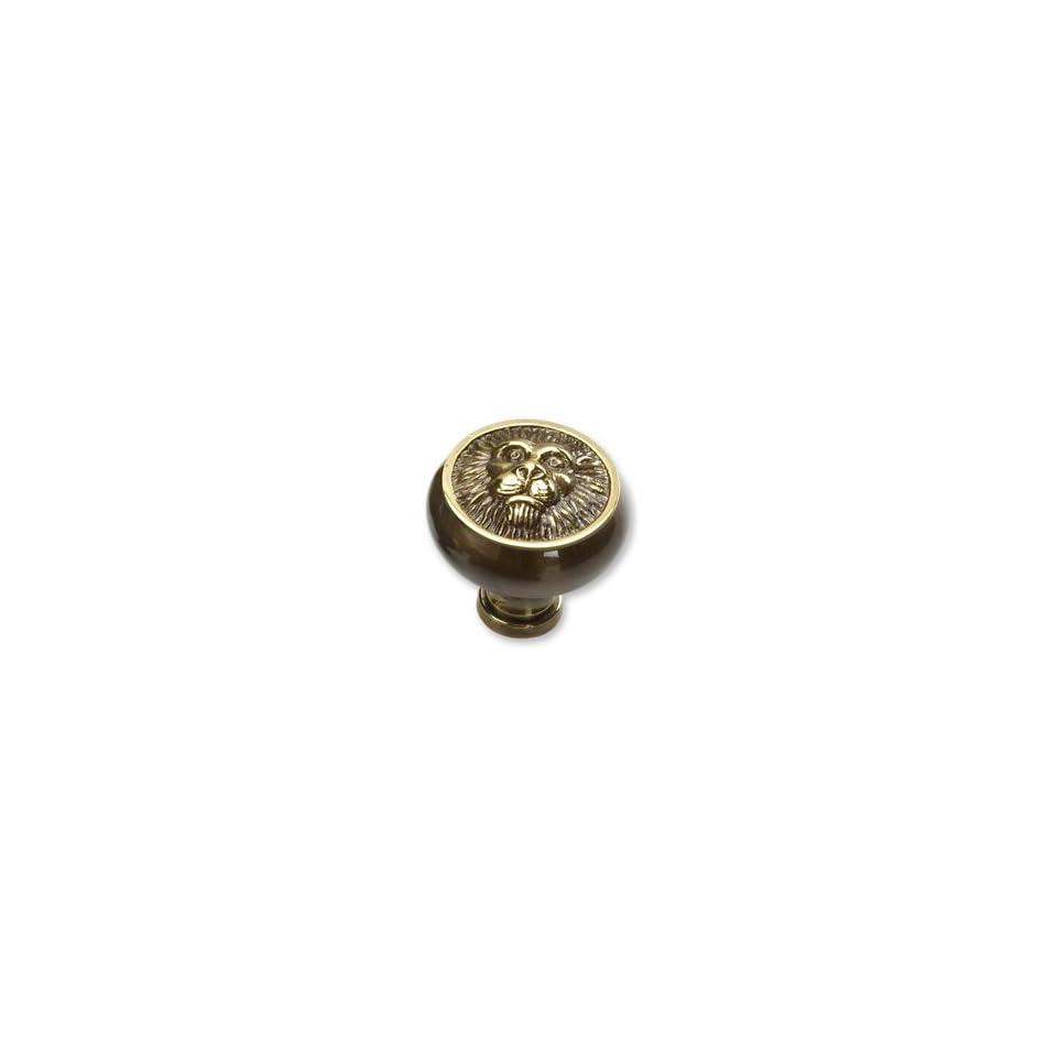 Schaub & Company   Lion Head Knob Antique Light Polish 1.5 Inches(Sch760 Alp)