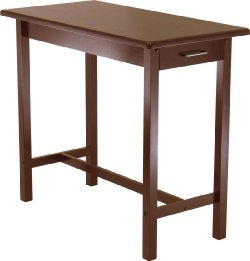 Cheap Kitchen Island with Two Drawers Antique Walnut (B0017LUJ5C)