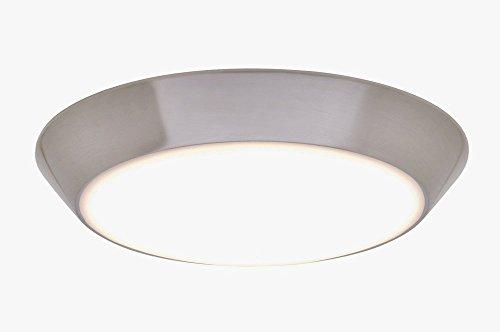 "Maxim Lighting 87615Wtsn Convert - 8"" 15W Led Flush Mount, Satin Nickel Finish With White Glass"