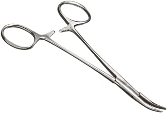"Aven 12016 Stainless Steel Hemostat Curved, 5"" Length"
