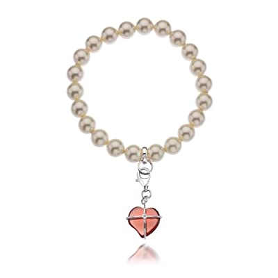 Hot Diamonds Cream and Charm Bracelet of Length 17-21cm