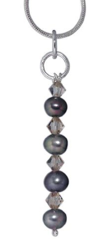 Handmade Sterling Silver , Swarovski Crystal and Pearls pendant - FREE Delivery in UK Gift Wrapped