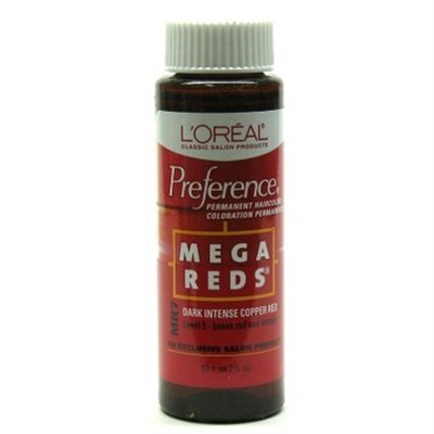 Loreal Preference #Mr7 Mega Red-Dk Intense Copper Red (3 Pack)
