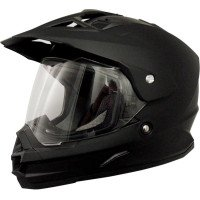 AFX FX-39 Unisex-Adult Full-Face-Helmet-Style Dual Sport Helmet (Flat Black, Large)