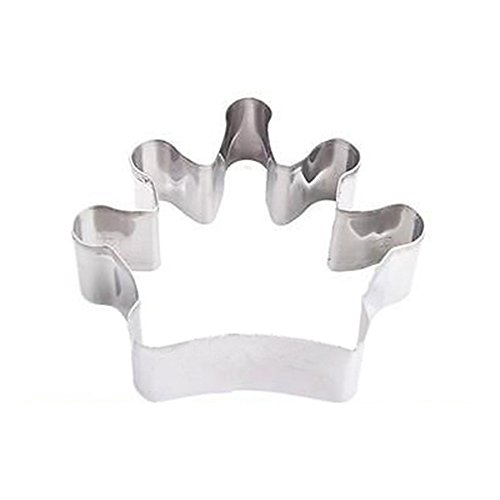 Polytree Stainless Steel Biscuit Jelly Chocolate Fondant Cake Cookie Cutter Mold DIY (Crown 3) (Crown Shaped Cookie Cutter compare prices)