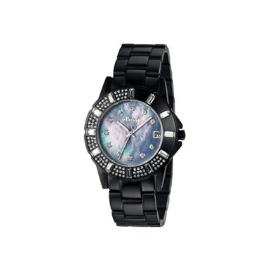 Ellesse Stone Set IP Black Ladies Bracelet Watch - Q150.10EEX