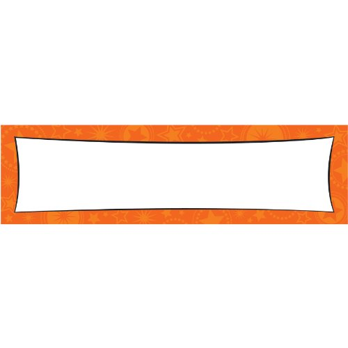 Giant Customizable Banner-Orange Party Accessory