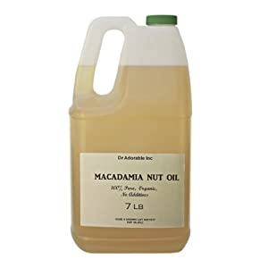Macadamia Nut Organic Oil Cold Pressed 7 Lb/ One Gallon