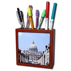 Vacation Spots - Saint Peters The Vatican - Tile Pen Holders-5 inch tile pen holder