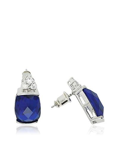 Shiny Cristal Orecchini  argento 925 rodiato/Blu