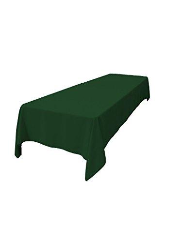 LA Linenâu201e¢ 60 By 102 Inch Rectangular Polyester Tablecloth / 6 Pack /  Hunter Green.