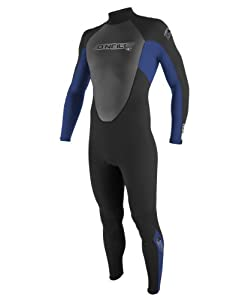 O'Neill Wetsuits Youth Reactor 3/2mm Full Suit, Black/Pacific/Black, 8