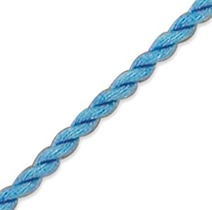 16 Inch Blue Twisted Silk Cord Necklace - JewelryWeb