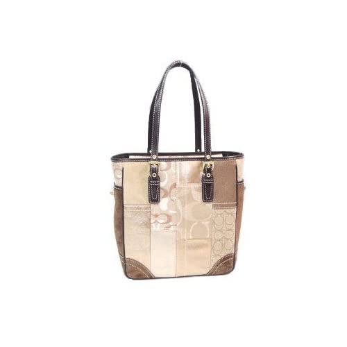 Amazon.com: COACH HANDBAGS, HOLIDAY PATCHWORK LUNCH TOTE