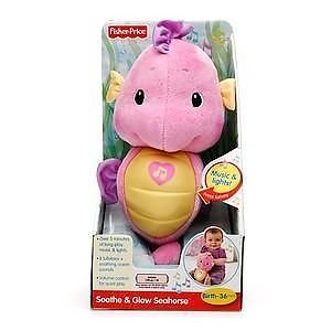 New Baby Fisher Price Ocean Wonders Soothe & Glow Seahorse Pink New front-340723