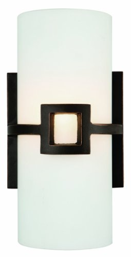 Design House 514604 Monroe 1-Light Wall Sconce, 11-Inch by 5.75-Inch, Oil Rubbed Bronze