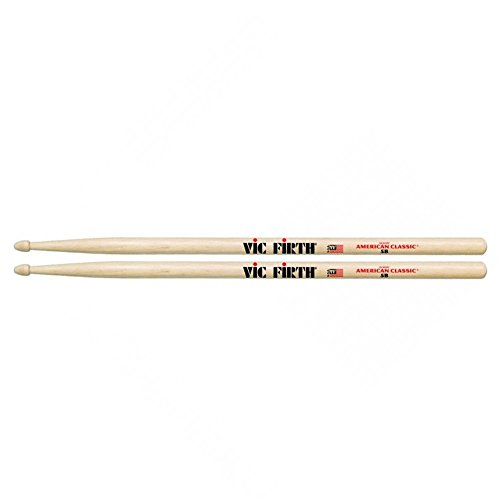 vic-firth-5b-american-hickory-wood-tip-drumstick