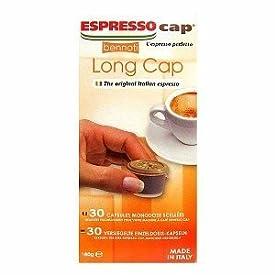 Bennoti the Original Italian Espresso Coffee Long Lasting Rich & Creamy Taste (300 Capsules, Long Cap)
