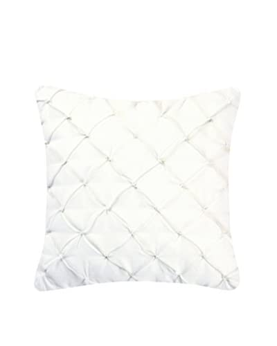Quilted Feather Down Pillow, White