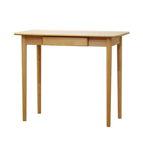 ISSEIKI デスク 木製机 【木目の美しいビーチ材使用】 小スペースにぴったり!幅90cmのつくえ