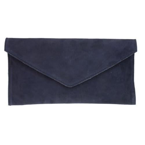 New Girly HandBags Genuine Suede Leather Envelope Clutch Bag Envelope Wrist Bag Evening Elegant Womens