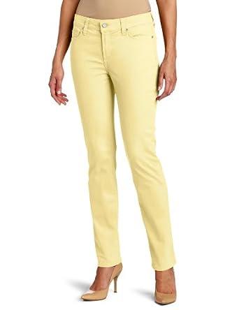 NYDJ Women's Sheri Skinny Twill Jean, Buttercream, 8