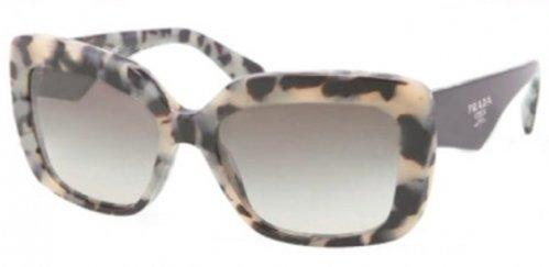 pradaPrada PR03QS Sunglasses-KAD/4M1 White Havana (Green Gradient Lens)-55mm