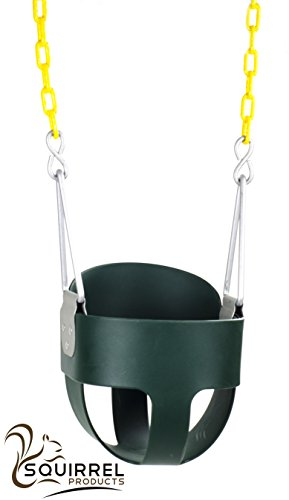 Discover Bargain High Back Full Bucket Toddler Swing Seat with Plastic Coated Chains - Swing Set Acc...