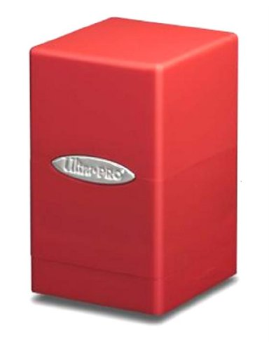 Red Satin Tower Deck Boxes