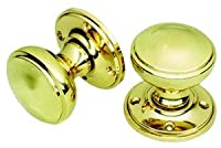 Victorian Style Polished Brass Door Knobs - Unsprung from OriginalForgery