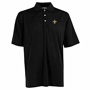 New Orleans Saints Phoenix Waffle Weave Polo by Antigua