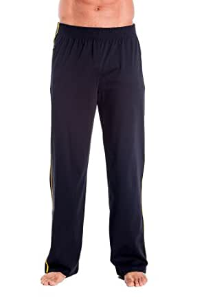 Mens Zipper Pocket Sweat Pant by Pitbull in Black with Gold, Small