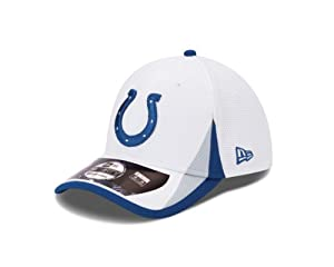 Indianapolis Colts New Era 39THIRTY 2013 Official Training Flex Fit Hat - White by New Era
