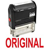 ORIGINAL Self Inking Rubber Stamp - Red Ink (42A1539WEB-R)