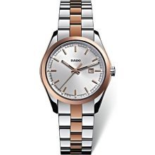 Rado Hyperchrome Silver Dial Two-Tone Ceramos and Steel Ladies Watch R32976102