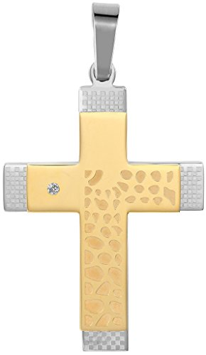 mens-necklace-stainless-steel-double-cross-cz-pendant-golden-width-28cm-height-45cm-by-aienid