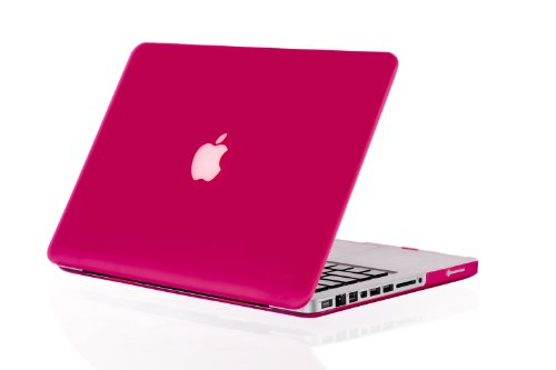 Review:  Kuzy - RASPBERRY Rubberized 13-inch Hard Case Cover See Thru for MacBook Pro 13.3