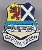 Gretna Green - Scotland Town Flag / Crest Pin Badge