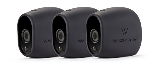 3-x-Black-Silicone-Skins-for-Arlo-Smart-Security-100-Wire-Free-Cameras-by-Wasserstein