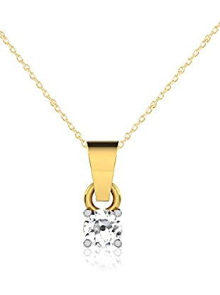 Friendly Diamonds Conjunto de cadena y colgante FDP6254Y Oro Amarillo