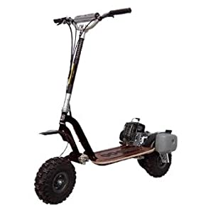 See Go-Ped GTR46R Trail Ripper Gas Powered Full Suspension Off-Road Scooter (Sinister Black) Full size and View details