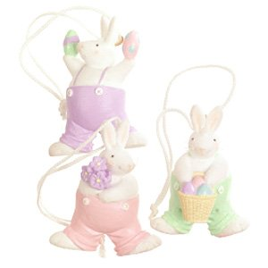 Easter Bunny Ornaments Set of 3